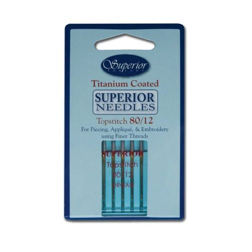 Superior, Titanium Topstitch Sewing Machine Needle 80/12